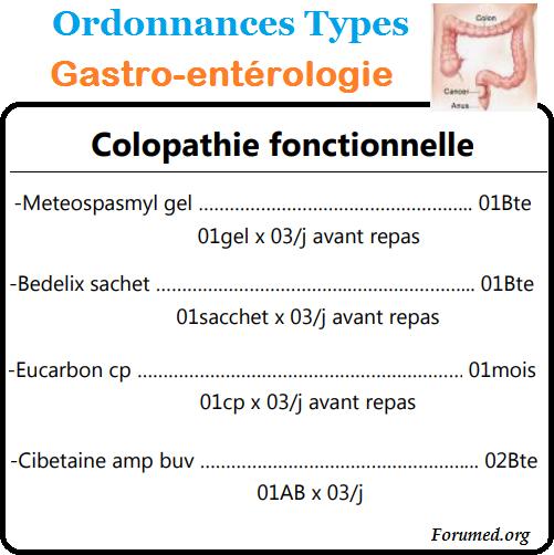 Colopathie Fonctionnelle Ordonnances Types