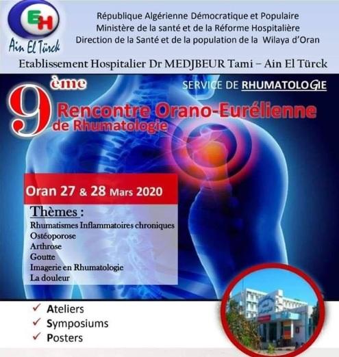 9 ÈME RENCONTRE ORANO-EURÉLIENNE DE RHUMATOLOGIE