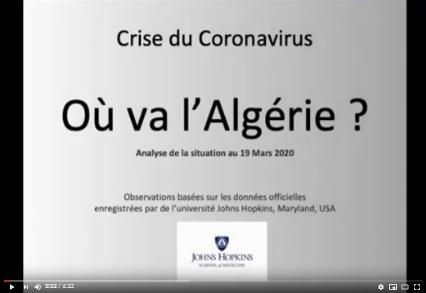 Coronavirus Covid 19: ou va l'Algérie?