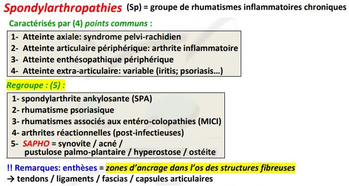 Spondylarthropathie