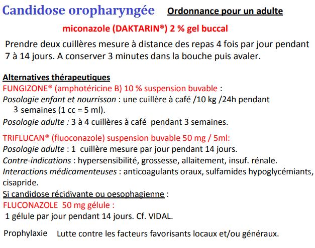Candidose oropharyngée